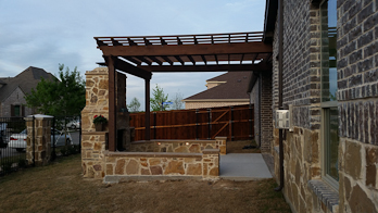Pergola, Bench, and Chimney
