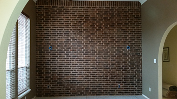 wall interior with  brick