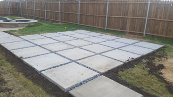 Patio paver design in Dallas