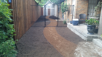 Sand and soil patio design