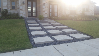 Entrance concrete steps